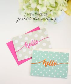 Middle of the Page Partial Die Cutting | Damask Love