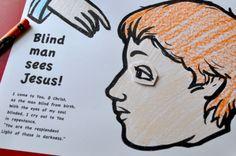 bibl craft, cc miracl, leccion biblica, blind man, bibl activit, jesus miracl, jesus heal, eyes, crafts