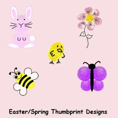 Easter Thumbprint Animals