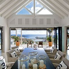 Dining Room #beach #coastal #dining #room #table #number #chair