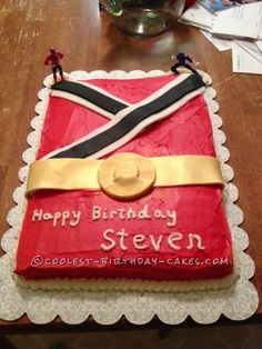 Coolest Power Rangers Cake... This website is the Pinterest of birthday cake ideas