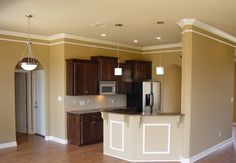 kitchens, dining rooms, living rooms, living room colors, crowns, kitchen colors, sherwin william, cabinet, paint colors