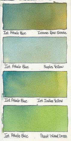 Intense Pthalo Blue + a Color
