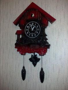 Birdhouse Cuckoo clock Plastic Cuckoo Clock Kitschy by RCEastman, $50.00