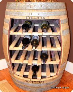 wine holder / wine barrel