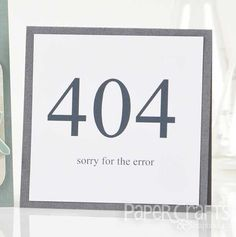 Sorry for the Error card by Terri Davenport | Paper Crafts & Scrapbooking magazine