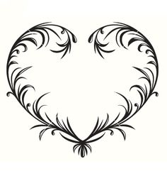 Flourishing heart vector 1059728 - by HelenaOhman on VectorStock®