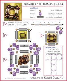 * Eva Maria Keiser Designs: Tutorial: PPS: Square with Bugles | 2004