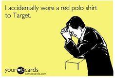 gluten free, red polo, polo shirts