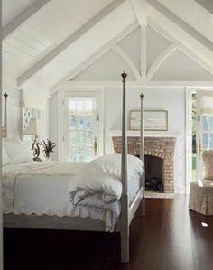 A beautiful bedroom in the loft.