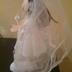 Fofucha novia lateral/Bride fofucha doll one side