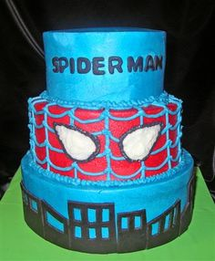 spiderman cake, birthday cake