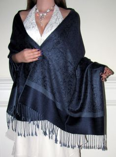 unique shawls wraps in blue grey black ivory white burgundy red green purple orange silver gold elegance. Shawls for all seasons abound here.