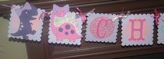 Girl's Dinosaur Party Banner