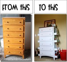 Change a ordinary dresser into something useful-Get allthe details