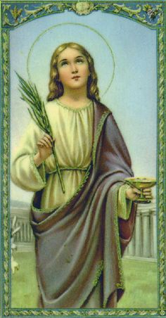 St. Lucia {Lucy} of Sicily, patron Saint of eyes