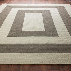 Eco-Friendly Concentric Stripe Braided Rug