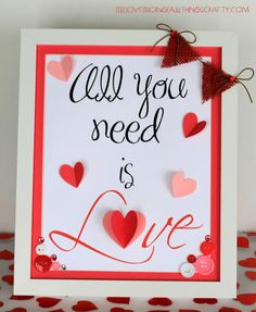 Valentine's Day Frame - How to make your own printable image on the Silhouette Cameo