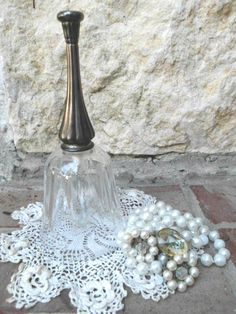 Timeless Elegance  Vintage  Classic Glass  Silver by TimelessNchic, $14.95 #collectible #bell #chic #cottage #Vintage