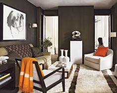 orange decor accents