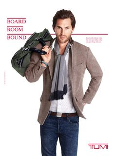 great look - Tumi campaign, photographed in Williamsburg, New York.
