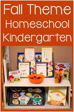Fall Theme Homeschool Kindergarten Fun from @1plus1plus1