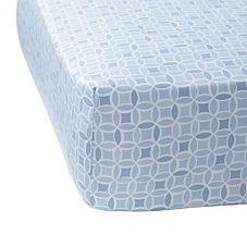 Blue Kaleidoscope Crib Sheet
