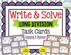 Engage your students with these 32 differentiated task cards that require your students to write their OWN word problems (and create real-world relevance in their learning!). Each task card has numbers and a theme that students use to guide their thinking and creation of a word problem.$
