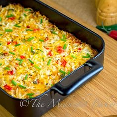 #Mexicali Hashbrown Taco #Casserole #Recipe. Dbl-click pic for recipe. #Celiac #coeliac, use #glutenfree #TacoSeasoning #TomatoSoup.
