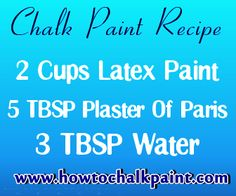 How To Make Chalk Paint - Simple Homemade Chalk Paint Recipe - How To Chalk Paint