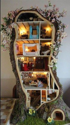 Hand-made doll house
