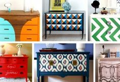 Different paint jobs on dressers
