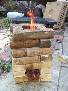 build a rocket stove...