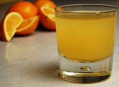 glass of orange kvas