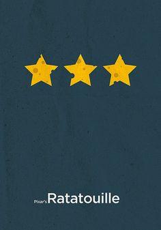 "minimalist movie poster for ""Ratatouille"""