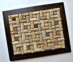 Wine Cork Board with Brown Frame by LizzieJoeDesigns on Etsy, $45.00