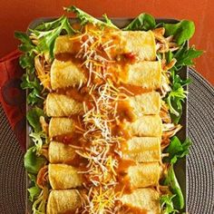 Crockpot Chicken Enchiladas-This is a delicious and easy recipe for a healthy Tex-Mex lunch or dinner. An easy, healthy diabetic friendly and WeightWatchers (7) PointsPlus recipe. Makes (4) Servings. Serving Size: (2) enchiladas per serving.