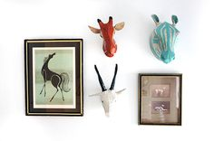 dwell studio paper mache animal heads
