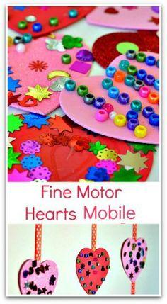 Fine Motor Activity- Hearts Collage