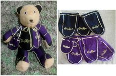 Made out of 6 Crown Royal bags.  check out other bears at creativecraftsbydawn.webs.com also on facebook