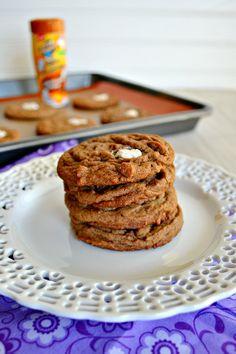 Chocolate Caramel Marshmallow Cookies