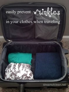 Easy way to prevent wrinkled clothing when traveling!