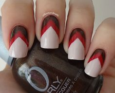 Tales of Knit and Nails: Fall Chevrons