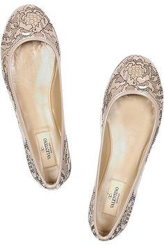 Valentino lace flats