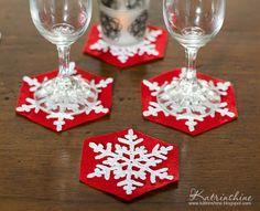 Crochet snowflakes coasters for Christmas table decor DIY