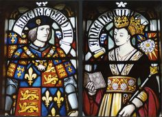 Richard III and Anne Neville stained glass window in York Minster