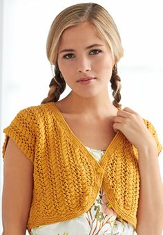 Patons Silk Bamboo - Cable Lace Bolero (free knitting pattern)