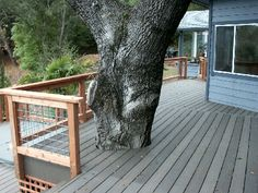 Wire railing for deck