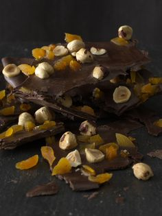 Hazelnut-Apricot Chocolate Bark | Vegetarian Times