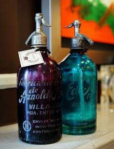 Argentinian antique seltzer bottles